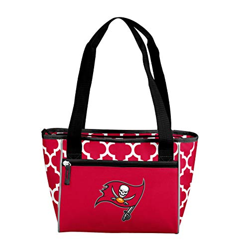 Logo Brands NFL Tampa Bay Buccaneers 16 Cooler Can Tote, Red, One Size