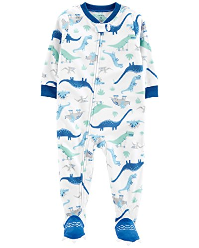 Carter's Baby Boy's 12M-5T One Piece Fleece Pajamas, Cool Dinosaurs, 2T