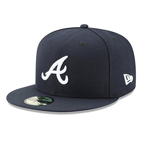 New Era Cap Co,. Inc. Men's 70361058, Navy, 7.25 (Atlanta Era Braves New)