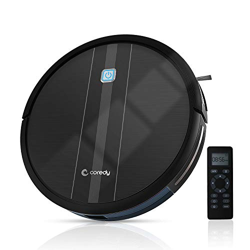 Coredy Robot Vacuum Cleaner, 1700Pa Powerful Suction, 2.7inch Robotic Vacuum with 360°Smart Sensor Protection, Multiple Cleaning Modes/Self-Charging Robot Vacuum for Pet Hair, Hard Floor, Carpet