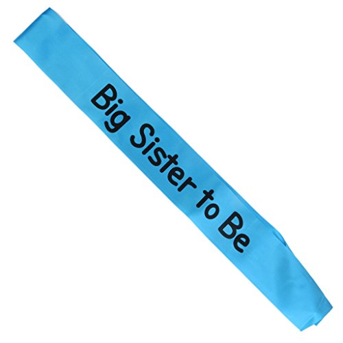 Writing Baby Shower Party Sash (Big Sister To Be, Blue) ()
