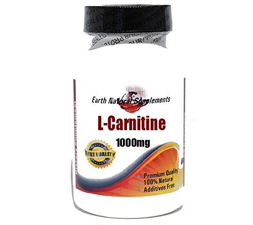 L-Carnitine 1000mg * 200 Capsules 100 % Natural - by EarhNaturalSupplements