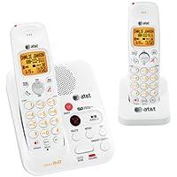 AT&T EL52209 DECT 6.0 Cordless Phone, White/Grey, 2 Handsets