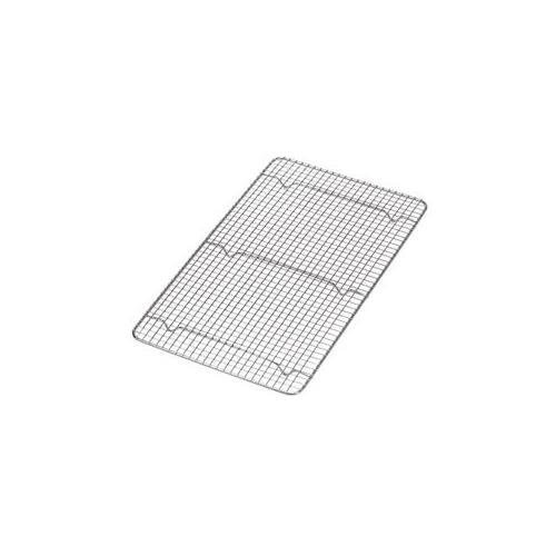 NEW, Cross-Wire Grid Cooling Rack, Wire Pan Grate, Baking Rack, Icing Rack, Chrome Plated Steel, Rectangle shape, 6-Raised Feet, Commercial Quality, Full Size - 10 x 18 Inches. (2) Pack