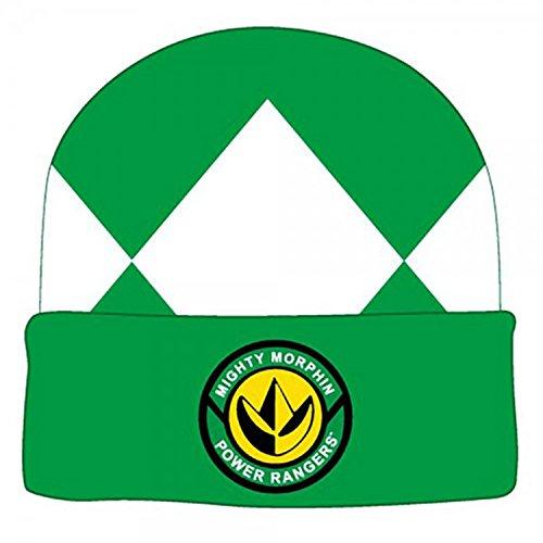 Power Rangers Costume Beanie Hat (Green Ranger), One Size (Power Rangers Green Ranger Costume)