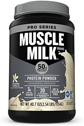 Muscle Milk Pro Series Protein Powder, Intense Vanilla, 2.54 Pound
