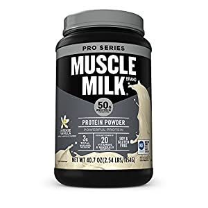 Muscle Milk Pro Series Protein Powder, Intense Vanilla, 50g Protein, 2.47 Pound, 14 Servings