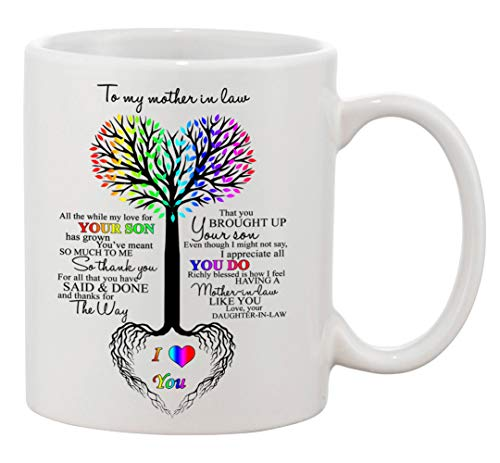 Coffee Mug with Sweet Poem for Mother in Law