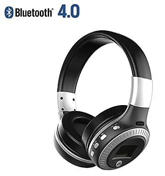 ZEALOT B19 auriculares inalámbricos Bluetooth 4.0 Ligera, plegable y con 3,5 mm AUX Mic apoyo TF tarjeta/FM Radio para iPhone Samsung Android (plata): ...