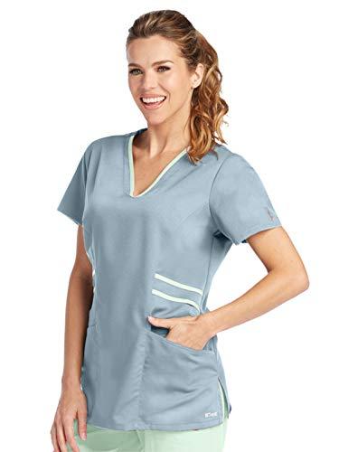Grey's Anatomy Active 41458 V-Neck Top Moonstruck/Pistachio S