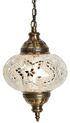(18 Variations) NEWEST CopperBull 2018 Turkish Moroccan Tiffany Style Handmade Mosaic Hanging Ceiling Lamp Light Pendant Fixture Lantern (15)