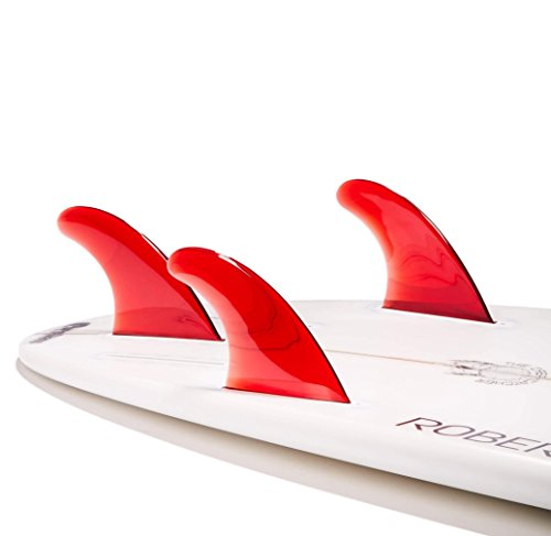 Dorsal Performance Flexrez Core Surfboard Thruster Surf Fins (3) FUT Compatible Red by Dorsal