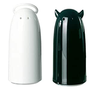 Spicy Devil Salt and Pepper Shaker Color: Black and white