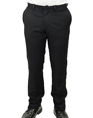 Brand Men's Wittfield Heritage Fit Dress Pants, Black, 36 x 33