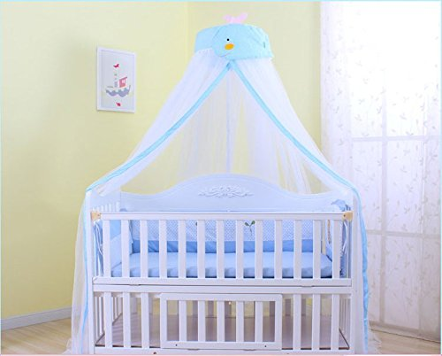 Mosquito Net - IFELES Toddler Bed Crib Canopy Mosquito Netting (Blue)