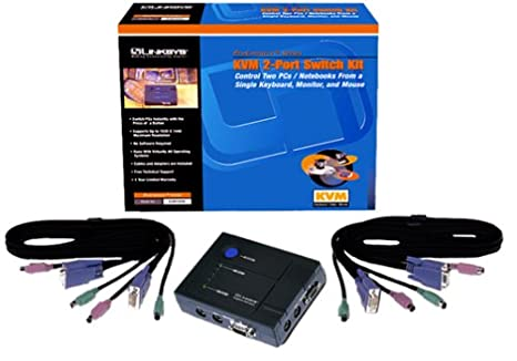 amazon com cisco linksys kvm100sk proconnect kvm 2 port switch kit rh amazon com linksys kvm2kit switch hotkey PS 2 KVM Switch
