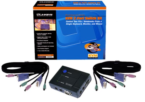 Cisco-Linksys KVM100SK ProConnect KVM 2-Port Switch Kit