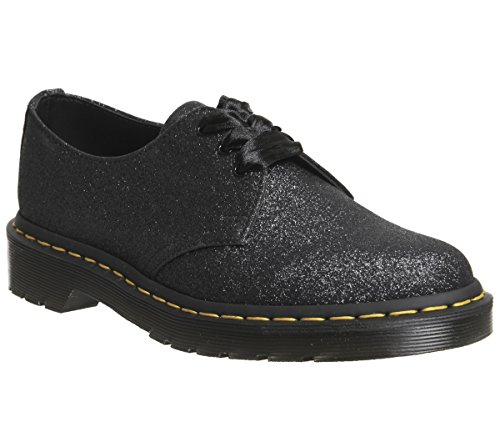 Shoes Lace Silver 1461 Unisex Glitter Black Dr Martens up waXt0nOq