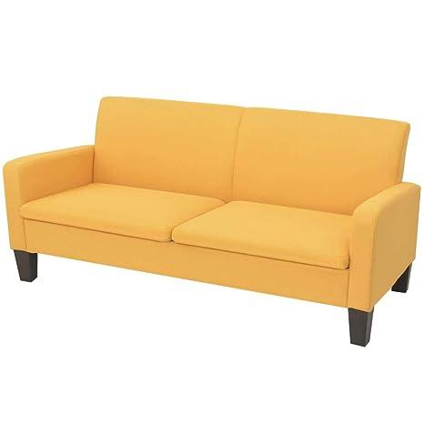 Tuduo Sofá de 2 plazas 180 x 65 x 76 cm Amarillo Elegante ...