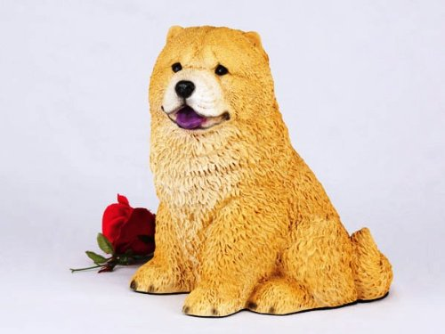 Chow Red Cremation Pet Urn for secure installation of your beloved pet's ashes indoors or outdoors