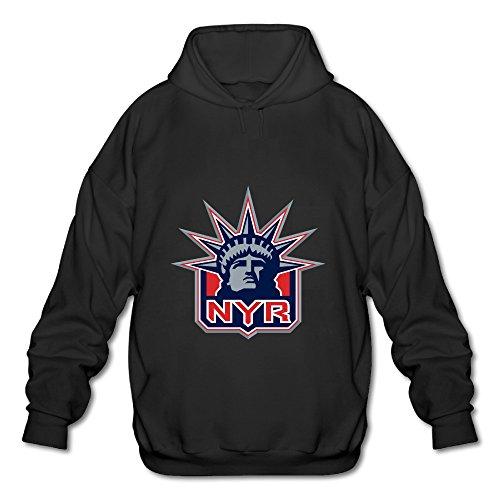 c157ab09f Nhl New York Rangers Nyr Logo Design Mens Hooded Sweatshirt Black  high-quality