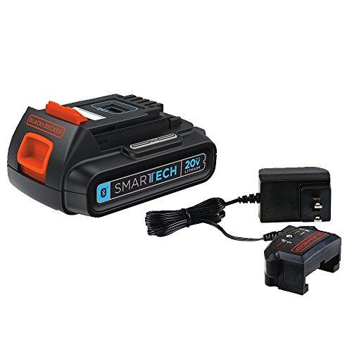 Locks & Black Tool Decker Power (BLACK+DECKER LBXR20BTK 20V MAX Lithium Ion SMARTECH Battery + Charger)