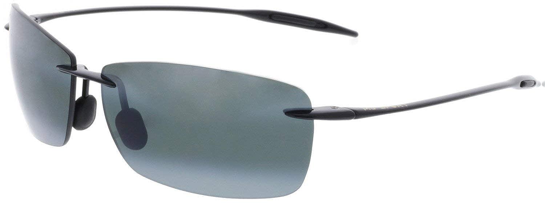 74075070bfaa Maui Jim Men's Lighthouse 423-02 Black Rimless Sunglasses: Maui Jim:  Amazon.co.uk: Clothing
