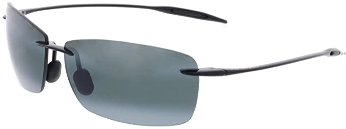 822bf31ea4 Maui Jim Men s Lighthouse 423-02 Black Rimless Sunglasses  Maui Jim ...