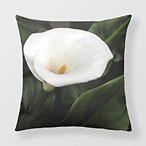 Refiring Pillow Case Cover Square Lily Garden Square Decorative Pillow Cases