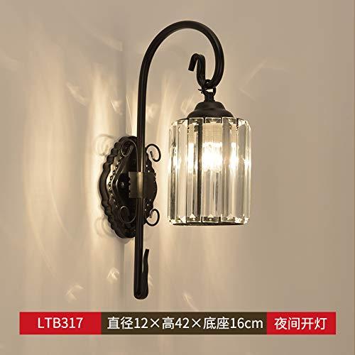 Agorl Nordic nachttischlampe wandleuchte schlafzimmer einfache kreative beleuchtung wohnzimmer gang wandleuchte, LT317 + warmes licht
