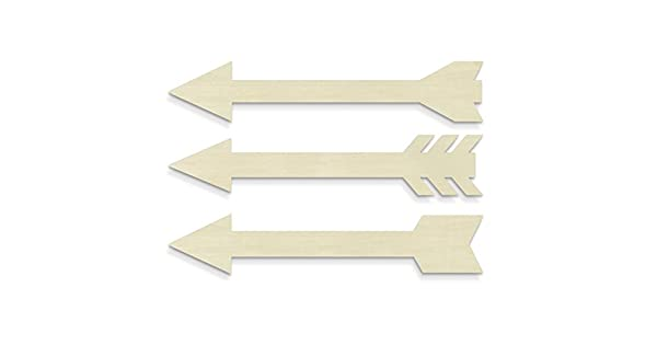 Amazon.com: unfinishedwoodco 300027 Flechas (Conjunto de 3 ...