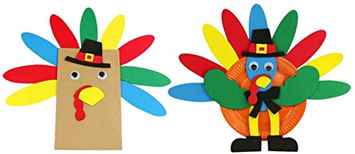 BinaryABC Thanksgiving Turkey Craft Kits,Thanksgiving Hanging Decor,Thanksgiving Party School Activities Decoration Supplies,2 Pack