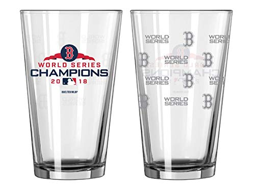 Boston Red Sox 2018 World Series Champions Satin Etch 16 Ounce Pint Glass