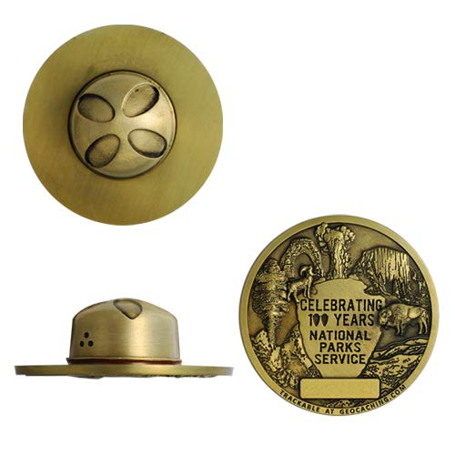 National Parks 100 Years Geocoin- Antique Gold