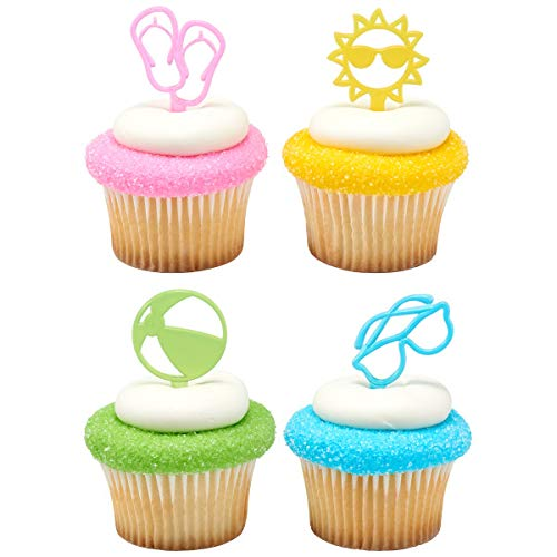 Summer Fun Cupcake Picks - 24 pc