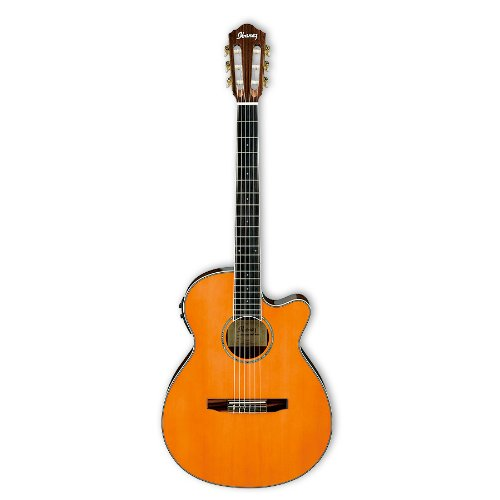 Ibanez AEG10NII Nylon String Cutaway Acoustic-Electric Guitar Tangerine ()