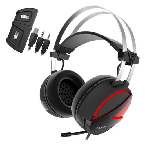 GAMDIAS Gaming Headset with USB/3.5mm Jack, 40mm Drivers, In-line Remote and RGB Lighting (HEBE E1)