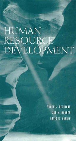 Human Resource Development (Harcourt Series in Computer Technology)