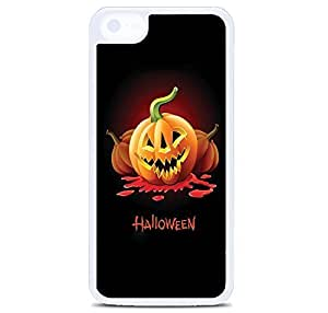iPhone 5C Case Cover, Free Halloween Vector Pumpkins Polycarbonate Plastic Hardshell Case Back Cover for iPhone 5C White