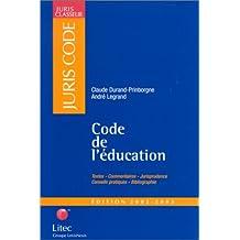 CODE DE L'EDUCATION  2002/2003