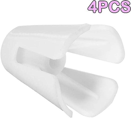 SALAKA Enhebrar Cono Titular 4pcs Hilo Blanco de plástico Carrete Cono Soporte para 644D 744D Serger Overlocker la máquina de Coser: Amazon.es: Hogar