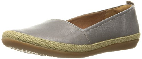 CLARKS Women's Danelly Alanza Flat Silver Leather 11 M US
