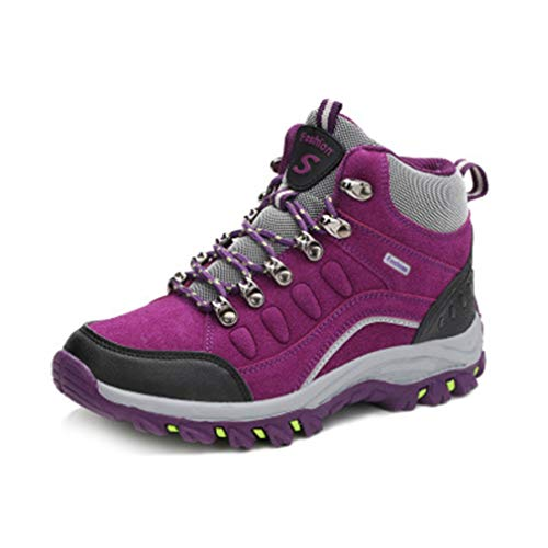 Hiking Casual Running High Hiker Shoes Non top Climbing Waterproof GIY Women's Outdoor Slip Boots Purple Trail H7xXxE0q8