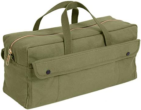ロスコ ジャンボ メカニック ツール バッグ 真鍮ジッパーRothco Canvas Jumbo Tool Bag With Brass Zipper