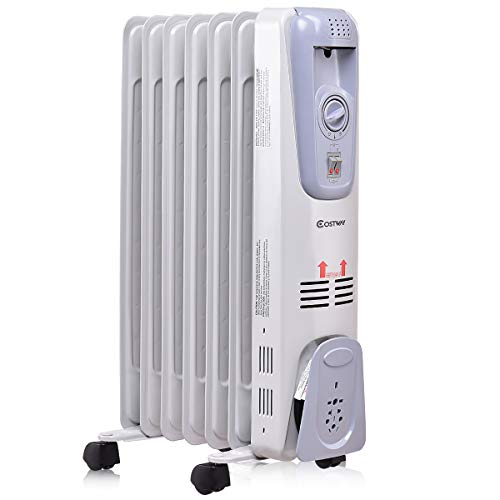 Costway Oil Filled Radiator Heater 1500w Portable Space