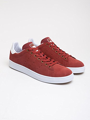 Adidas, Unisex adulto, Stan Smith Vulc Mystery Red White, Suede, Sneakers, Rosso, 45&1/3 EU