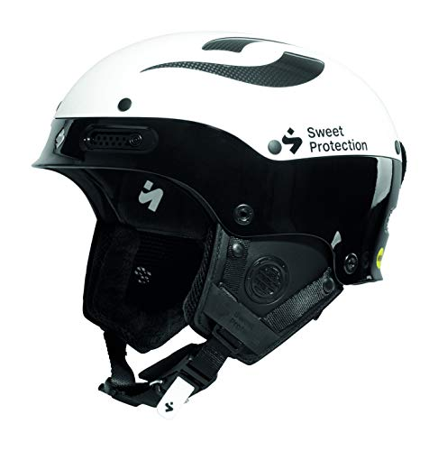 Sweet Protection Trooper II SL MIPS Slalom Race Ski Helmet, Gloss White/Gloss Black, Large/X-Large