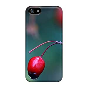 Premium Iphone 5/5s Case - Protective Skin - High Quality For Red Berry Close Up