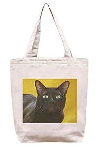 Gato negro–algodón Canvas Tote Bag