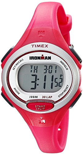 Timex Women's TW5K903009J Ironman Essential 30 Pink Resin Strap Watch